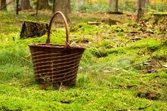 Decorated mushroom basket Royalty Free Stock Images