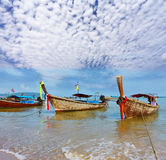A decorated native boats Longtail Royalty Free Stock Images