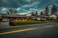 Decorated Neighbors Houses Stock Photography