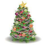 Decorated New Year Tree Stock Image