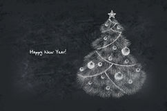 Decorated New Year Tree Royalty Free Stock Photos