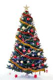 Decorated new year tree Royalty Free Stock Images