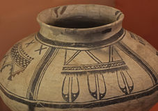 Decorated olla, Salinas National Monument Stock Image