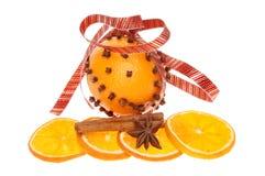 Decorated orange Royalty Free Stock Photography