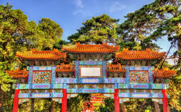 Decorated Paifang at the Summer Palace of Beijing Royalty Free Stock Images