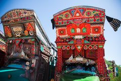 A decorated Pakistani truck royalty free stock photography