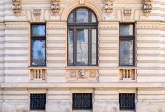 Decorated palace windows stock photos