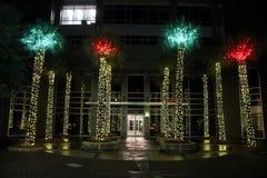 Decorated palm trees on Daniel Island. Stock Photo