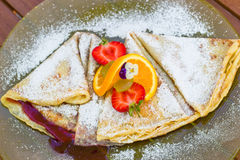 Decorated pancake Royalty Free Stock Image