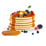 Decorated Pancakes Stock Images