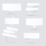 Decorated paper banners Royalty Free Stock Images