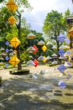 Decorated paper lanterns in Hue, Vietnam. Decorated paper lanterns on display at the Citadel in Hue, Vietnam royalty free stock photography
