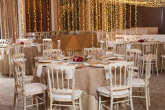 Decorated party hall for the reception royalty free stock photo