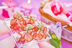 Decorated piece of ham Stock Images
