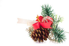 Decorated pine cone Stock Image