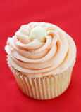 Decorated pink cupcake Royalty Free Stock Photo