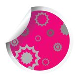 Decorated pink sticker Stock Image