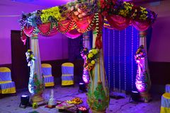 Decorated Place for wedding ceremony royalty free stock photos
