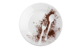 Decorated plate Royalty Free Stock Image
