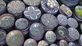 Decorated plates medina souk Stock Photography