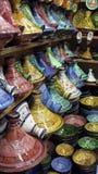 Decorated plates medina souk Royalty Free Stock Image