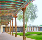 The decorated portico of the Jami Mosque Stock Image