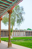 The decorated portico of the Jami Mosque Royalty Free Stock Photo