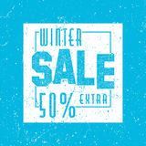 Decorated poster, banner or flyer design of Winter Sale. Grunge. Vintage texture Stock Images