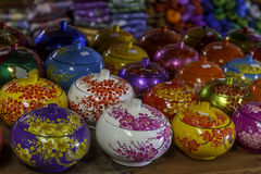 Decorated pot, rice cup, souvenir shop Stock Photography