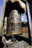 Decorated Praying Wheel On Annapurna Stock Image