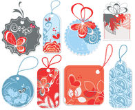Decorated price tags vector illustration