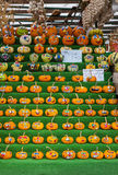 Decorated Pumpkins Royalty Free Stock Photo