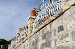 Decorated railings Stock Images