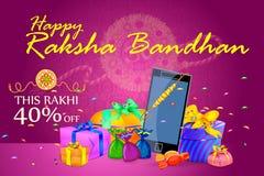 Decorated Rakhi with gift for Raksha Bandhan Sale Royalty Free Stock Image