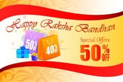 Decorated Rakhi with gift for Raksha Bandhan Sale Royalty Free Stock Images