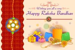 Decorated Rakhi with gift for Raksha Bandhan Stock Image