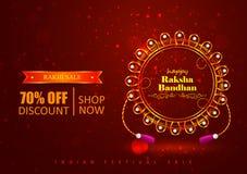 Decorated Rakhi for Indian festival Raksha Bandhan shopping sale promotion offer. Vector illustration of decorated Rakhi for Indian festival Raksha Bandhan Royalty Free Stock Photography