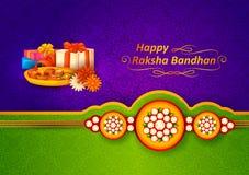 Decorated rakhi for Indian festival Raksha Bandhan. Vector illustration of decorated rakhi for Indian festival Raksha Bandhan Royalty Free Stock Photo