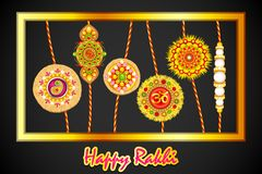 Decorated Rakhi for Raksha Bandhan Royalty Free Stock Images