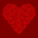 Decorated red heart Stock Photos