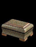 The decorated restangular casket. Stock Photos