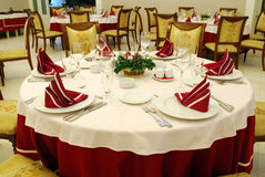 Decorated restaurant table Royalty Free Stock Photo