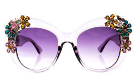 Decorated with rhinestones sunglasses Royalty Free Stock Photo