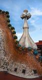 The decorated roof. Casa Batllo. Antonio Gaudi Royalty Free Stock Photo