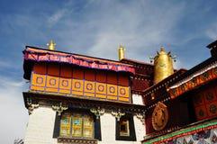Decorated Roof of Jokhang. Lhasa Tibet. Stock Photos