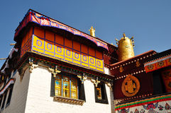 Decorated Roof of Jokhang. Lhasa Tibet. Stock Photography