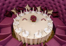 Decorated with a round table Royalty Free Stock Image