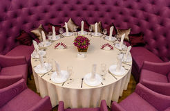Decorated with a round table Royalty Free Stock Images