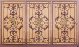 Decorated Rusty Metal door Royalty Free Stock Photo