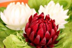 Decorated salad like lotus flower Stock Photo